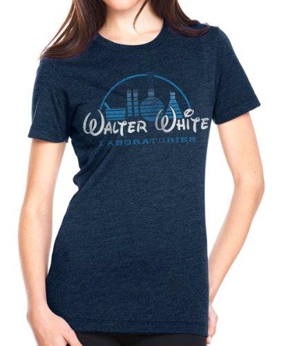 Superluxe™ Womens Walter White Meth Lab Breaking Bad Walt Heisenberg T Shirt, Medium, Midnight Navy