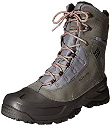 Columbia Men\'s Snowblade Plus WP Cold Weather Boot, Charcoal/Bright, 9.5 D US