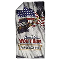 United States Army Armed Forces Military Services Colors Won't Run Beach Towel by Trevco