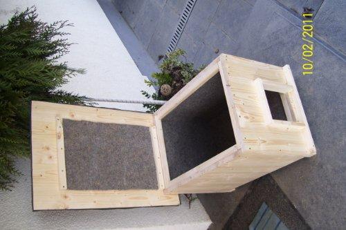 katzenhaus kurz mit heizung katzenh tte wurfkiste. Black Bedroom Furniture Sets. Home Design Ideas