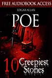 img - for Edgar Allan Poe: 10 Creepiest Stories (Illustrated) (The Raven, The Black Cat, The Tell-Tale Heart, The Pit and the Pendulum, The Fall of the House of Usher) book / textbook / text book