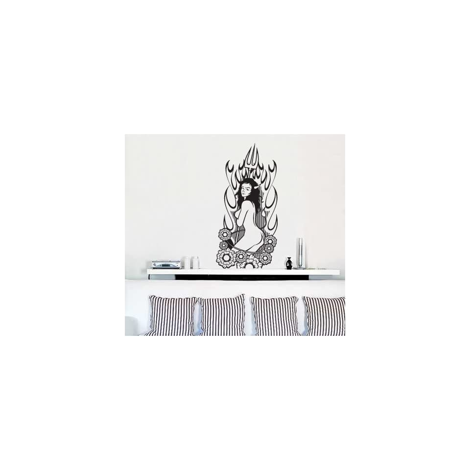 Vinyl Wall Decal Sticker Devil Girl Model 21x48