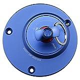 GZYF フューエル タンクキャップ 鍵付き ドゥカティ モンスターS2R S4R 748 916 996 998 848に対応 ブルー