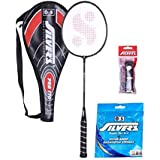Silver Pro 170 Badminton Racket With 3/4 Cover( 1 Racket ) , Sheep Badminton Gut