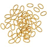 50-PieceOpenOvalJumpRings,4by6mm,20-Gauge,22KGold