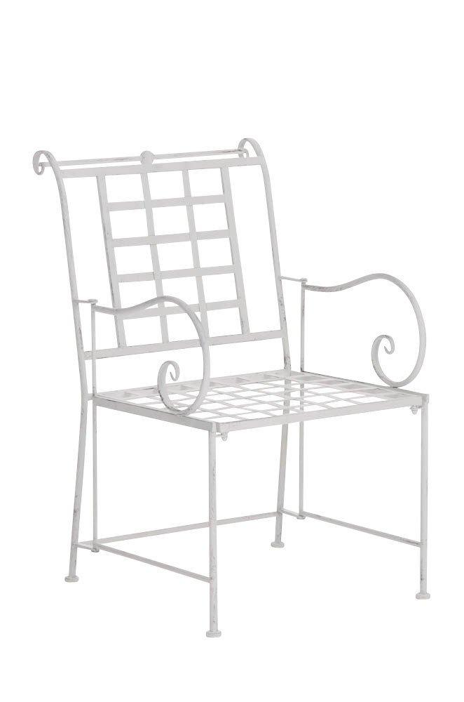 CLP nostalgischer Stuhl HELEN aus Eisen (aus bis zu 6 Farben wählen) antik-weiß