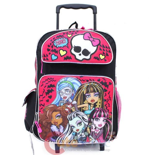 Monster High Large Rolling Backpack Licensed