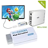 Thanksgiving Day Gift CFY Wii To HD-TV/HD 720P / 1080P WII to HDMI Converter Output Video Audio Supports All Wii Display Modes adapter