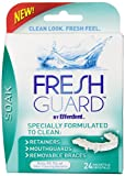 Fresh Guard Soak Specially Formulated CLEANER for Retainers Mouthguards and Removable Braces, 24 Count