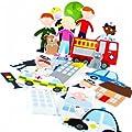 Meadow Kids Emergency Services Eva Bath Stickers