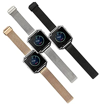 Fitbit Blaze Accessory Band, Large, Ecsem® Stainless Steel Wrist Bands Buckle for Fitbit Blaze Only / Replacement Band for Fitbit Blaze /No Tracer or other parts