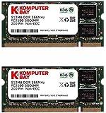 KOMPUTERBAY 1GB (512MB X 2) DDR SODIMM (200 Pin) 266Mhz DDR266 PC2100 LAPTOP MEMORY