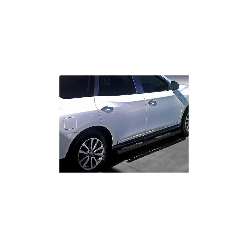 "Premium Custom Fit 2013 2015 Nissan Pathfinder Black 3"" Side Step Nerf Bars Running Boards(2pcs with Mounting Bracket Kit) Automotive"