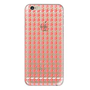 Hamee Designer Case from Japan Thin Fit Crystal Clear Transparent Protective Plastic Hard Cover for iPhone 6 Plus / 6s Plus (Gradation Print / Red x Pink)