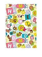 Ambiance Sticker Alfombra De Vinilo Alphabet Letters And Animals