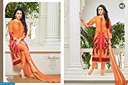 StarMart MF-ELEZITA-4 STRAIGHT Semi Stitched Suit-79009