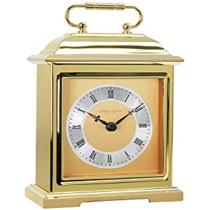 Solid Brass Heavy Metal Traditional Carriage Mantel Mantle Clock By London Clock Company