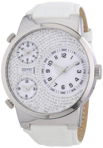 Esprit EL900482001 - Reloj analógico de cuarzo para mujer, correa de cuero color blanco