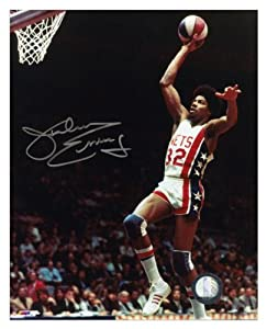New Jersey Nets Julius Erving Autographed 8 x 10 Photo - Mounted Memories Certified by Sports+Memorabilia