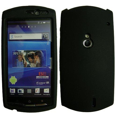 Original Phonecastle Silicon Case Silikon Etui SonyEricsson Neo & 2 x Displayschutzfolie SonyEricsson Neo