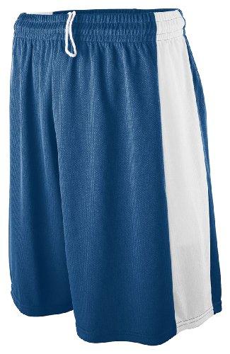 Augusta Sportswear Boy'S Wicking Mesh Game Short, Navy/White, Small