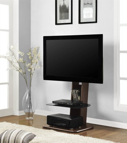 Altra Furniture Galaxy Tv Stand With Mount For Tvs Up To 50 Inch Walnut Finish My Home