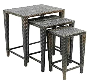 3 pc nesting table set outdoor and patio