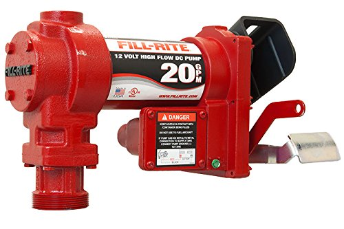 Fill-Rite-FR4210G-Fuel-Transfer-Pump-Telescoping-Suction-Pipe-12-Delivery-Hose-Manual-Release-Nozzle-12-Volt-20-GPM