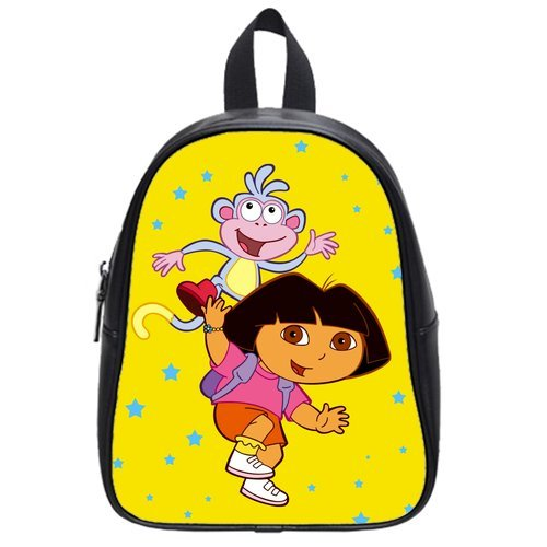 Dora And Cute Mondey Best Choice For Christmas Gift Custom School Bag Size: Large