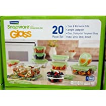 Glasslock Snapware Tempered Glass Food Storage Containers with Lids 20 Piece Set