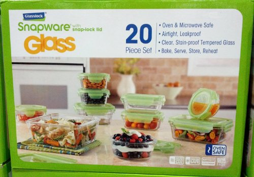 Glasslock Snapware Tempered Glass Food Storage