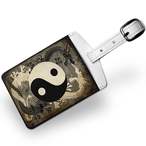 Luggage Tag Yin and yang, ying dragon, Travel ID Bag Tag – Neonblond