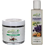 Greenviv Natural Combo Of Lavender Calendula & Chamomile Body Lotion (200 Ml) With Chocolate & Vanilla Body Scrub...
