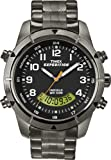 Timex Expedition Fullsize Quartz Watch with Black Dial Analogue - Digital Display and Silver Stainless Steel Bracelet T49826SU