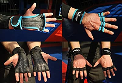 Crossfit Gloves - Weight Lifting Gloves with Anti-Sweat Design & Superior Wrist Support by ViperSportsWear. Perfect for Cross Training WODs, Gym Workout,Fitness, Pull-Ups. Healthy Hands = Longer Workouts by ViperSportsWear