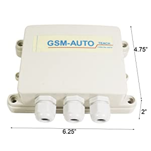 KiaoTime GSM-AUTO-DC-US4G NEW USA AT&T 4G 2CH Output GSM SMS Remote
