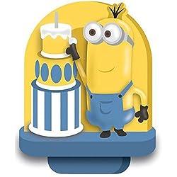 Wilton 2811-4600 Despicable Me Minions Birthday Candle, Multicolor