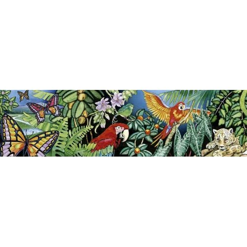 Animals mural style wallpaper border section 2 rainforest animals