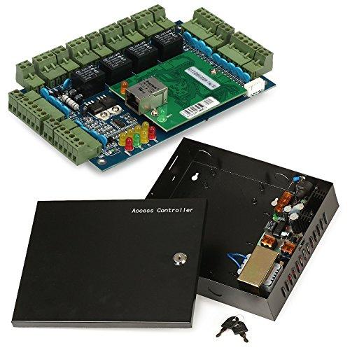 Generic 4 Door 4 Reader Network Access Control Controller Board + 110V Power Box