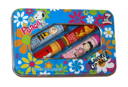 Peanuts Flavored Lip Balm and Gift Box Set