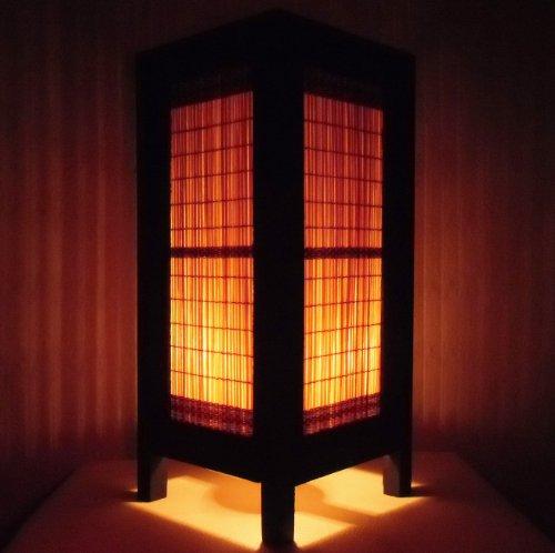 rare-asie-thai-lampe-de-tables-bouddha-style-chevet-bambou-par-thailande