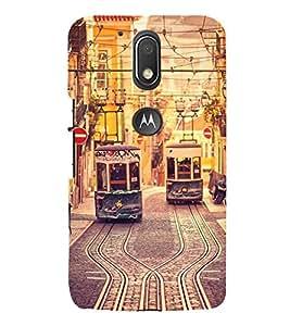 Trams 3D Hard Polycarbonate Designer Back Case Cover for Motorola Moto G4 Plus :: Moto G4+