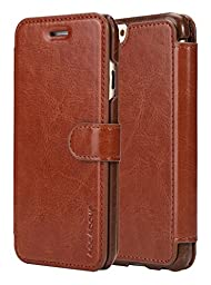 iPhone 6S Case, AceAbove iPhone 6S wallet case [Brown] - Premium PU Leather Wallet Cover with [Card Slots] for Apple iPhone 6 (2014) / iPhone 6S (2015)