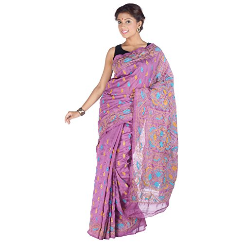 Elife Elife Purple Cotton Silk Saree For Women (Multicolor)