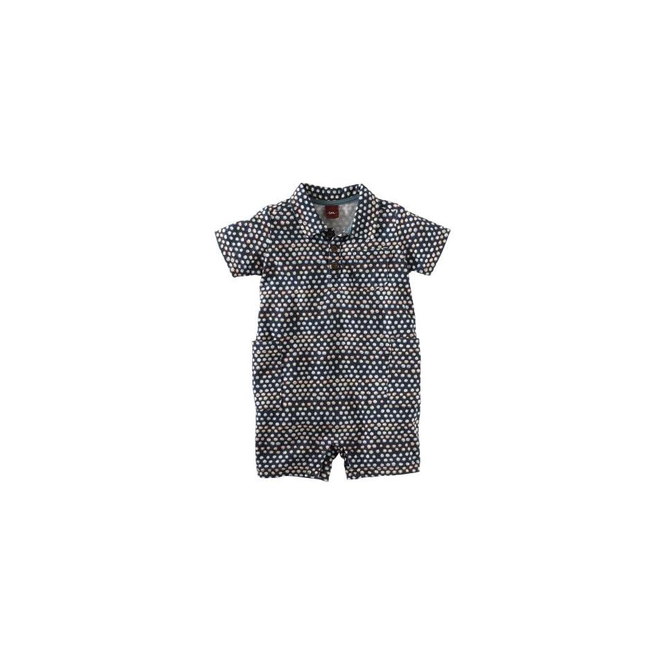 Tea Collection Baby boys Infant Kendang Polo Romper, Indigo, 0 3 Months