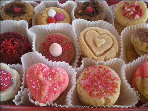 Red Valentine Cookie Sampler Gift Box