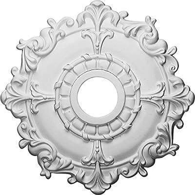 Ekena Millwork CM18RL 18-Inch OD x 3 1/2-Inch ID x 1 1/2-Inch Riley Ceiling Medallion from Ekena Millwork