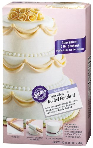 Wilton Pure White Rolled Fondant, 80 oz at Amazon.com