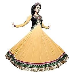 Mahaveer Fashion Women's Faux Georgette Semi-Stitched Anarkali (jalpana03_herrite_Yellow_Free Size)