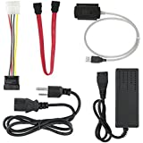 """AGPtek® SATA/PATA/IDE Drive to USB 2.0 Adapter Converter Cable for Hard Drive Disk HDD 2.5"""" 3.5"""" with External AC Power Adapter"""